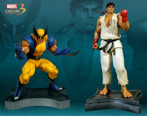 Estatua Hollywood collectibles criticsight wolverine y ryu