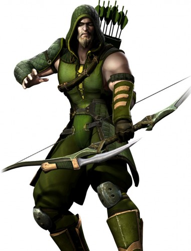 Injustice gods among us criticsight ilustración  green arrow