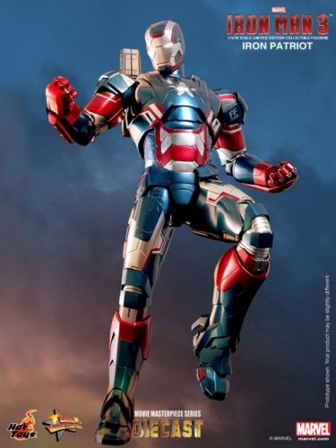 IRON PATRIOT IRON MAN 3 FIGURA HOT YOYS CRITICSIGHT IMAGEN 1