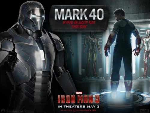 armadura mark 40 shotgun iron man 3 criticsight