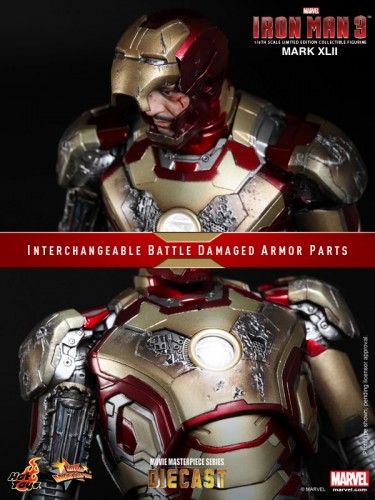 Iron Man 3 mark XLII 42 figura por hot toys criticsight imagen 13