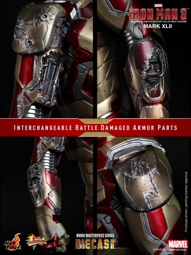 Iron Man 3 mark XLII 42 figura por hot toys criticsight imagen 14