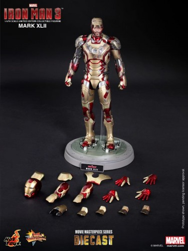 Iron Man 3 mark XLII 42 figura por hot toys criticsight imagen 17