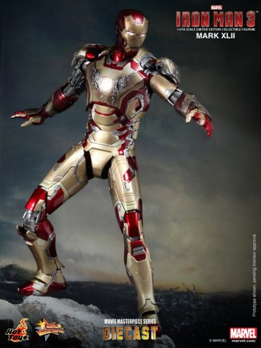 Iron Man 3 mark XLII 42 figura por hot toys criticsight imagen 5