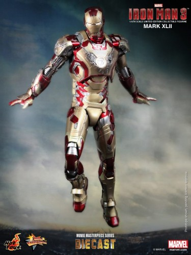 Iron Man 3 mark XLII 42 figura por hot toys criticsight imagen 6