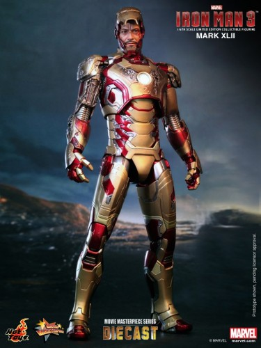 Iron Man 3 mark XLII 42 figura por hot toys criticsight imagen 7