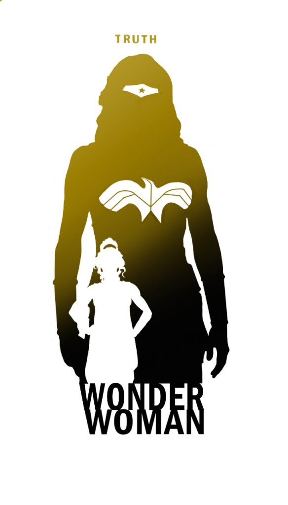 Poster fan de la liga de la justicia criticsight wonder woman