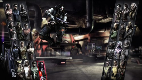 lobo en el menu de seleccion  injustice gods among us criticsight
