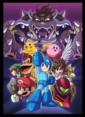 Arte super smash bros wii u 3ds criticsight poster 3ds