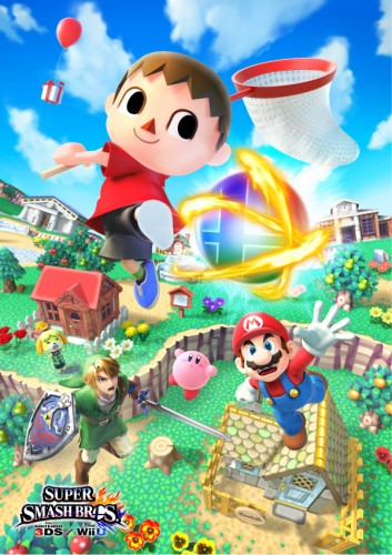 Arte super smash bros wii u 3ds criticsight poster wii u