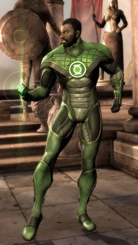 Green Lantern's John Stewart skin en Injustice Gods Among Us criticsight