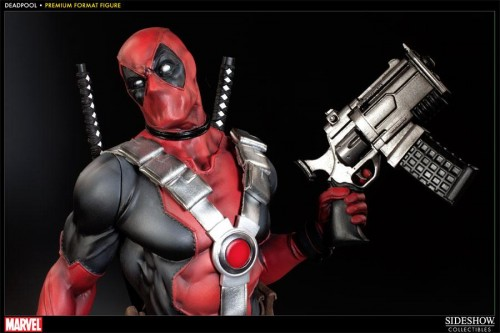 Deadpool figura Premium por sideshow collectibles criticsight imagen 2