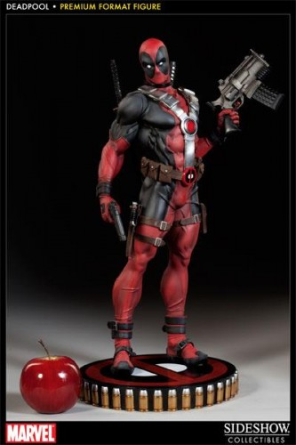 Deadpool figura Premium por sideshow collectibles criticsight imagen 3