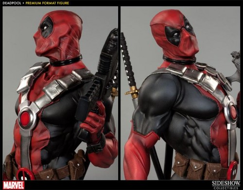 Deadpool figura Premium por sideshow collectibles criticsight imagen 5