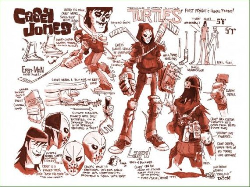 Tortugas ninja temporada 2 tmnt season 2 concept art criticsight casey jones