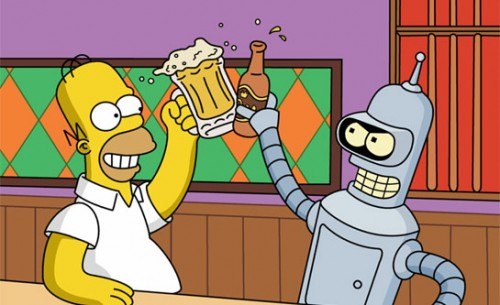simpsons y futurama crossover temporada 25 criticsight