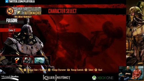 Fulgore colores distintos killer instinct 2014 criticsight 2