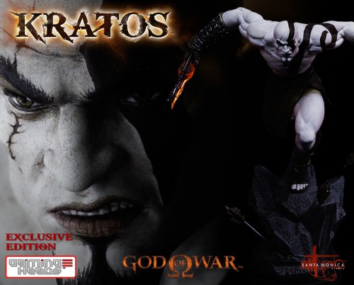 "Estatua de Kratos de God of War Solo Para Coleccionistas por ""Gaming Heads"" (2015) criticsight 1"