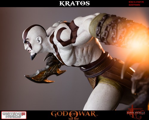 "Estatua de Kratos de God of War Solo Para Coleccionistas por ""Gaming Heads"" (2015) criticsight 11"
