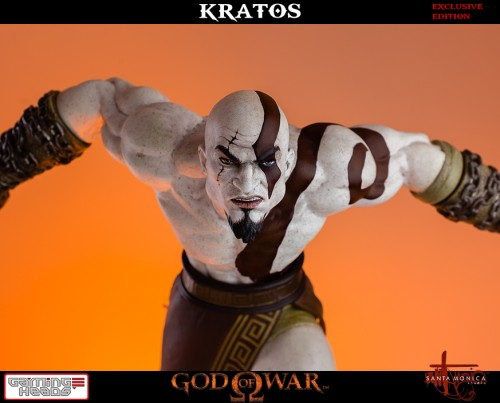 "Estatua de Kratos de God of War Solo Para Coleccionistas por ""Gaming Heads"" (2015) criticsight 13"