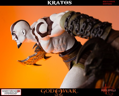 "Estatua de Kratos de God of War Solo Para Coleccionistas por ""Gaming Heads"" (2015) criticsight 14"