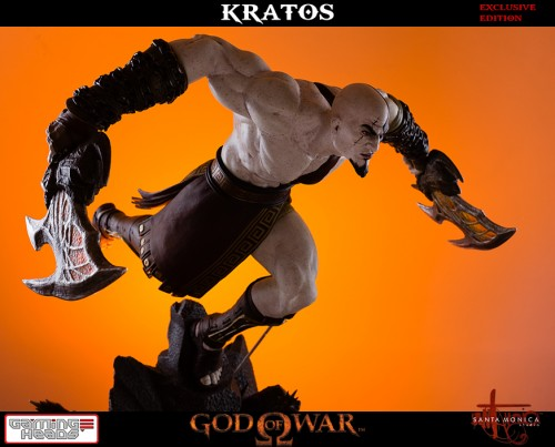 "Estatua de Kratos de God of War Solo Para Coleccionistas por ""Gaming Heads"" (2015) criticsight 16"