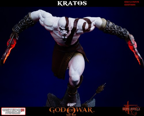 "Estatua de Kratos de God of War Solo Para Coleccionistas por ""Gaming Heads"" (2015) criticsight 2"