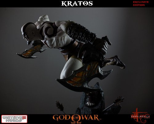 "Estatua de Kratos de God of War Solo Para Coleccionistas por ""Gaming Heads"" (2015) criticsight 21"