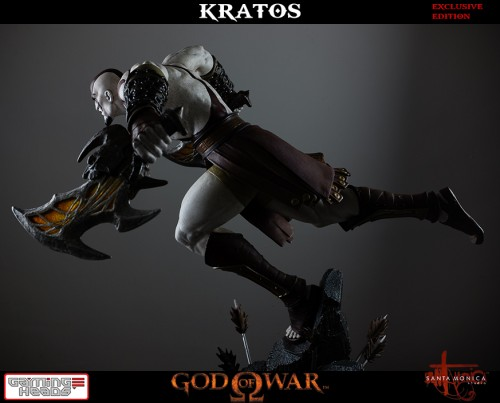 "Estatua de Kratos de God of War Solo Para Coleccionistas por ""Gaming Heads"" (2015) criticsight 22"