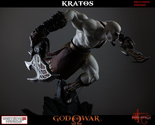 "Estatua de Kratos de God of War Solo Para Coleccionistas por ""Gaming Heads"" (2015) criticsight 24"