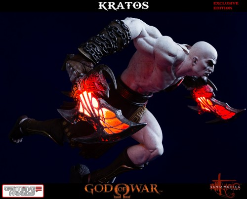 "Estatua de Kratos de God of War Solo Para Coleccionistas por ""Gaming Heads"" (2015) criticsight 25"