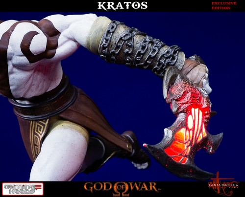 "Estatua de Kratos de God of War Solo Para Coleccionistas por ""Gaming Heads"" (2015) criticsight 27"