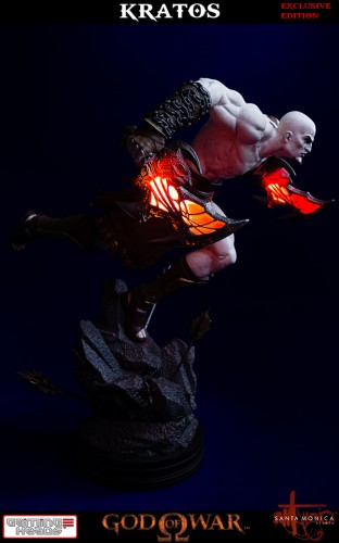 "Estatua de Kratos de God of War Solo Para Coleccionistas por ""Gaming Heads"" (2015) criticsight 29"