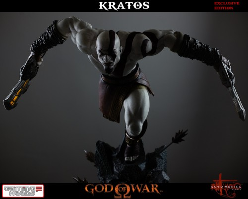 "Estatua de Kratos de God of War Solo Para Coleccionistas por ""Gaming Heads"" (2015) criticsight 3"