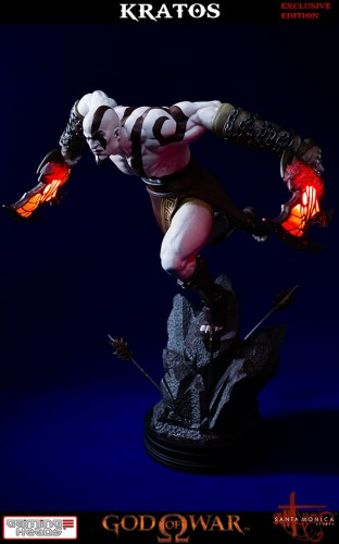 "Estatua de Kratos de God of War Solo Para Coleccionistas por ""Gaming Heads"" (2015) criticsight 32"