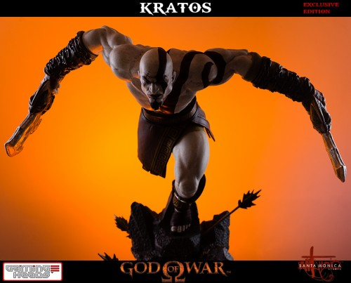 "Estatua de Kratos de God of War Solo Para Coleccionistas por ""Gaming Heads"" (2015) criticsight 4"