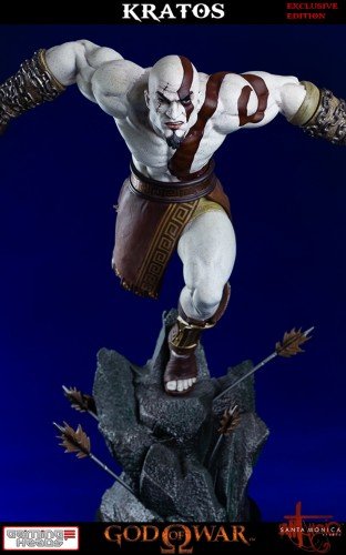 "Estatua de Kratos de God of War Solo Para Coleccionistas por ""Gaming Heads"" (2015) criticsight 40"