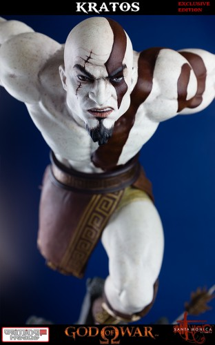 "Estatua de Kratos de God of War Solo Para Coleccionistas por ""Gaming Heads"" (2015) criticsight 41"