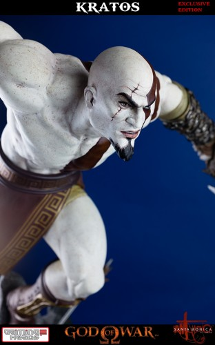 "Estatua de Kratos de God of War Solo Para Coleccionistas por ""Gaming Heads"" (2015) criticsight 42"