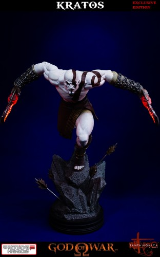 "Estatua de Kratos de God of War Solo Para Coleccionistas por ""Gaming Heads"" (2015) criticsight 5"
