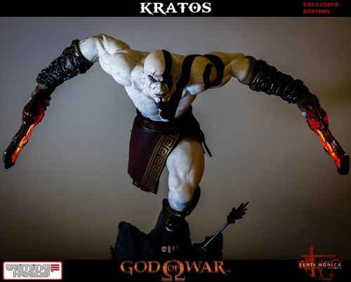 "Estatua de Kratos de God of War Solo Para Coleccionistas por ""Gaming Heads"" (2015) criticsight 6"
