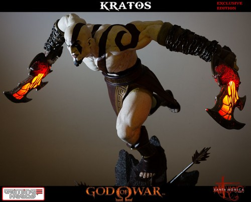 "Estatua de Kratos de God of War Solo Para Coleccionistas por ""Gaming Heads"" (2015) criticsight 7"