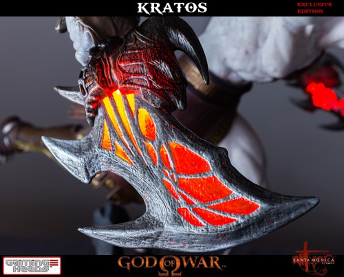 "Estatua de Kratos de God of War Solo Para Coleccionistas por ""Gaming Heads"" (2015) criticsight 8"