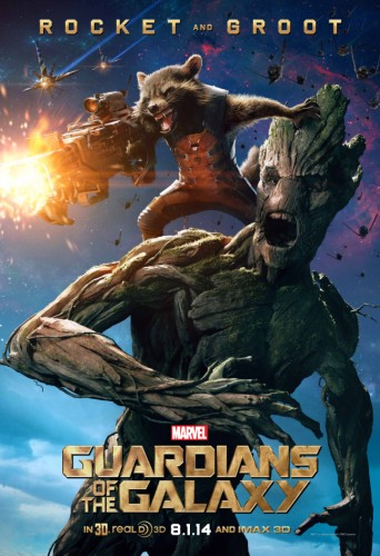 Estos son los Posters Oficiales de Guardianes de la Galaxia criticsight rocket y groot