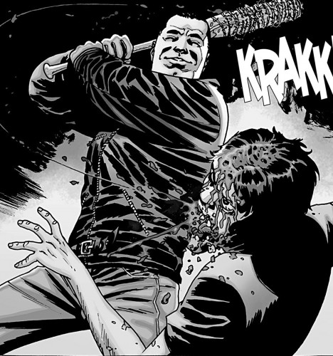 Negan mata a glenn comic walking dead criticsight