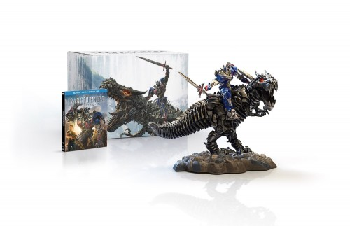 Transformers Age of Extinction Limited Edition Gift Set With Grimlock and Optimus Collectible Statue Blu Ray  criticsight