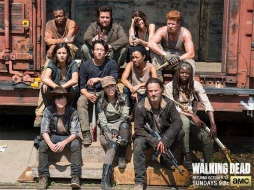 the walking dead quinta temproada imagen promocional elenco cast 2014 criticsight