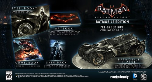 Estas son las Ediciones de Colección de Batman Arkham Knight batmobile edition criticsight
