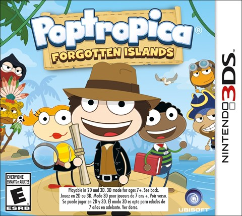 Poptropica Forgotten Islands solo 3DS criticsight