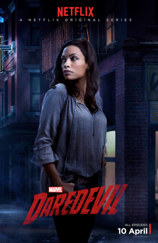 Rosario Dawson es Claire Temple aka Night Nurse poster criticsight